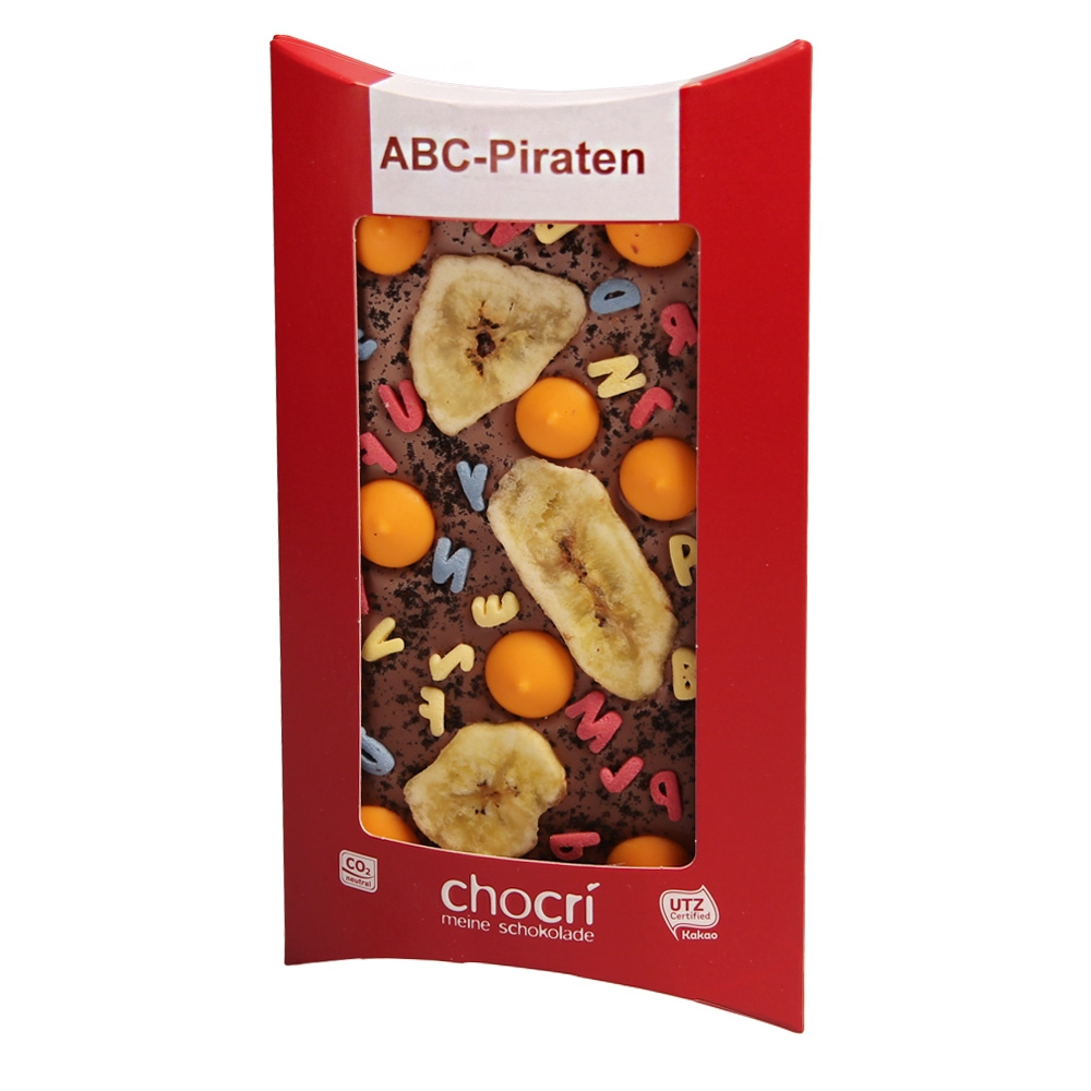 chocri ABC Piraten Schokoladen Tafel