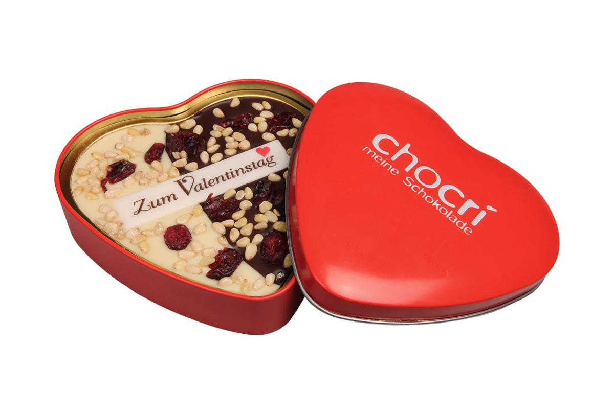Bessere Hälfte Herz Schokoladen Tafel Geschenk Dose