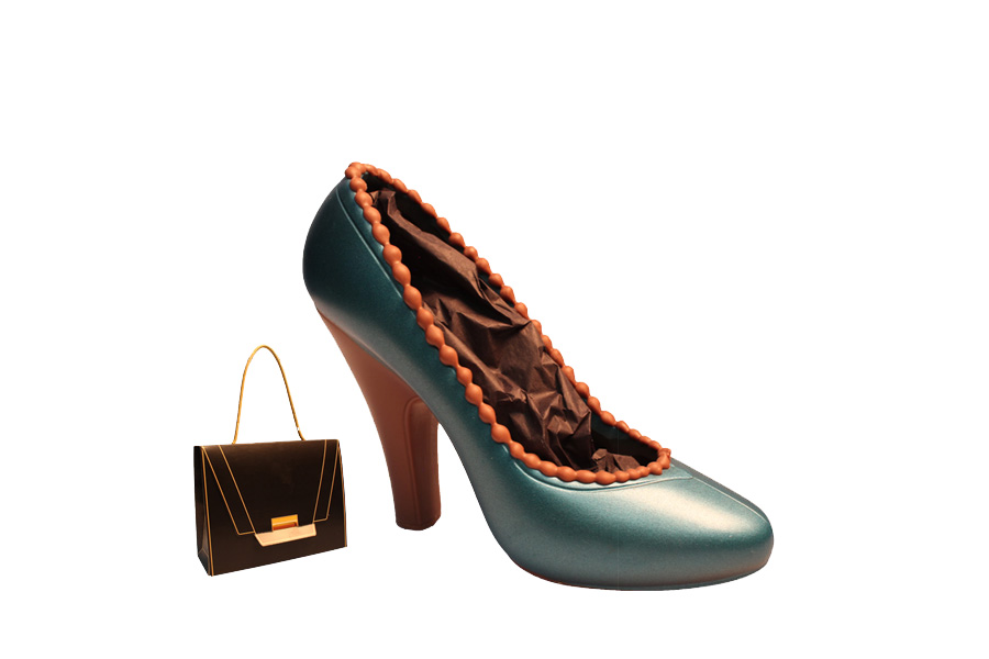 Blauer Schokoladen High Heel