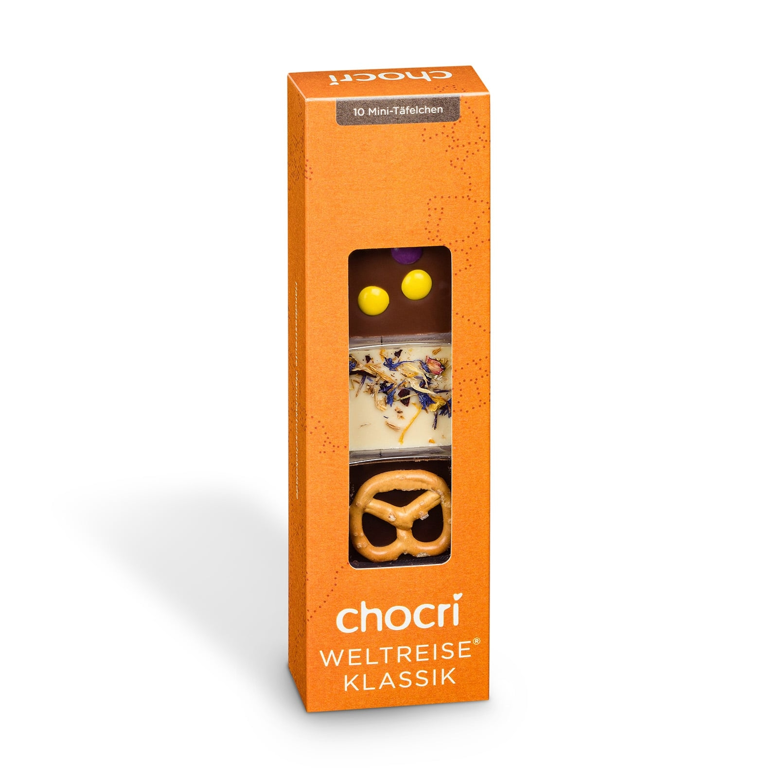 Köstlichsüsses - chocri 'Kleine Weltreise®' Mini Schokoladentafeln - Onlineshop Chocri