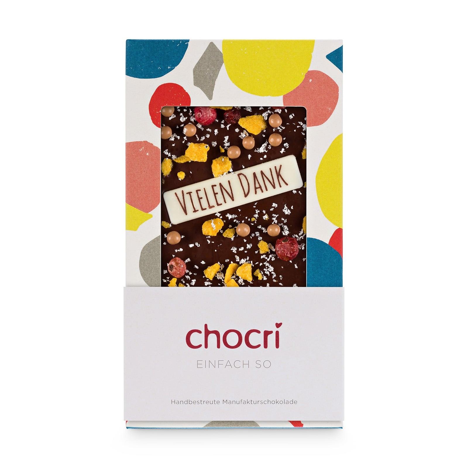 Danke Schokolade 'Einfach so' Schokoladentafel