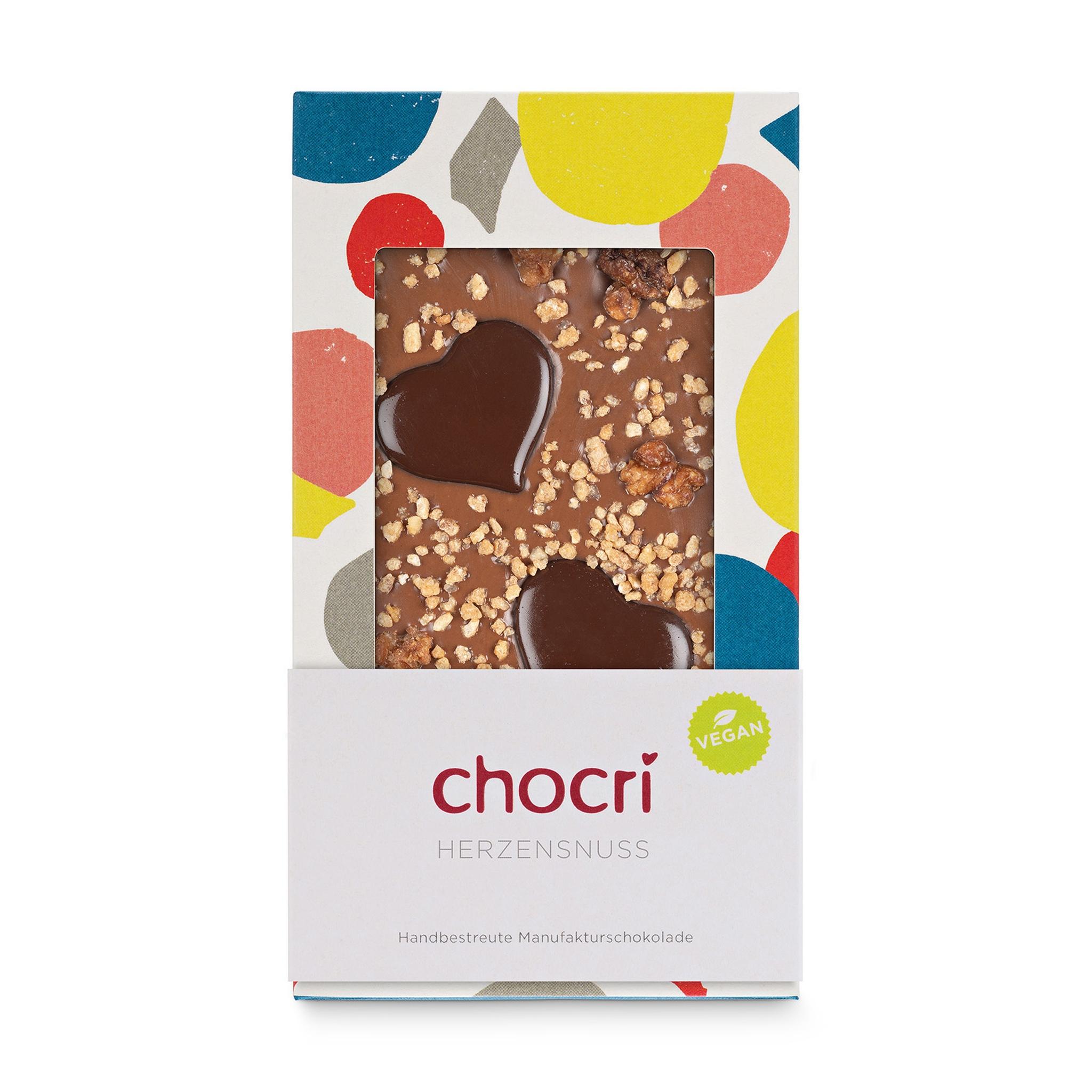 chocri 'Herzensnuss' Schokoladentafel