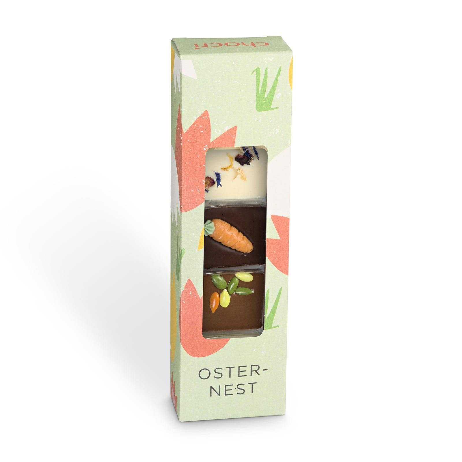 Köstlichsüsses - chocri 'Osternest' Mini Schokoladentafeln - Onlineshop Chocri