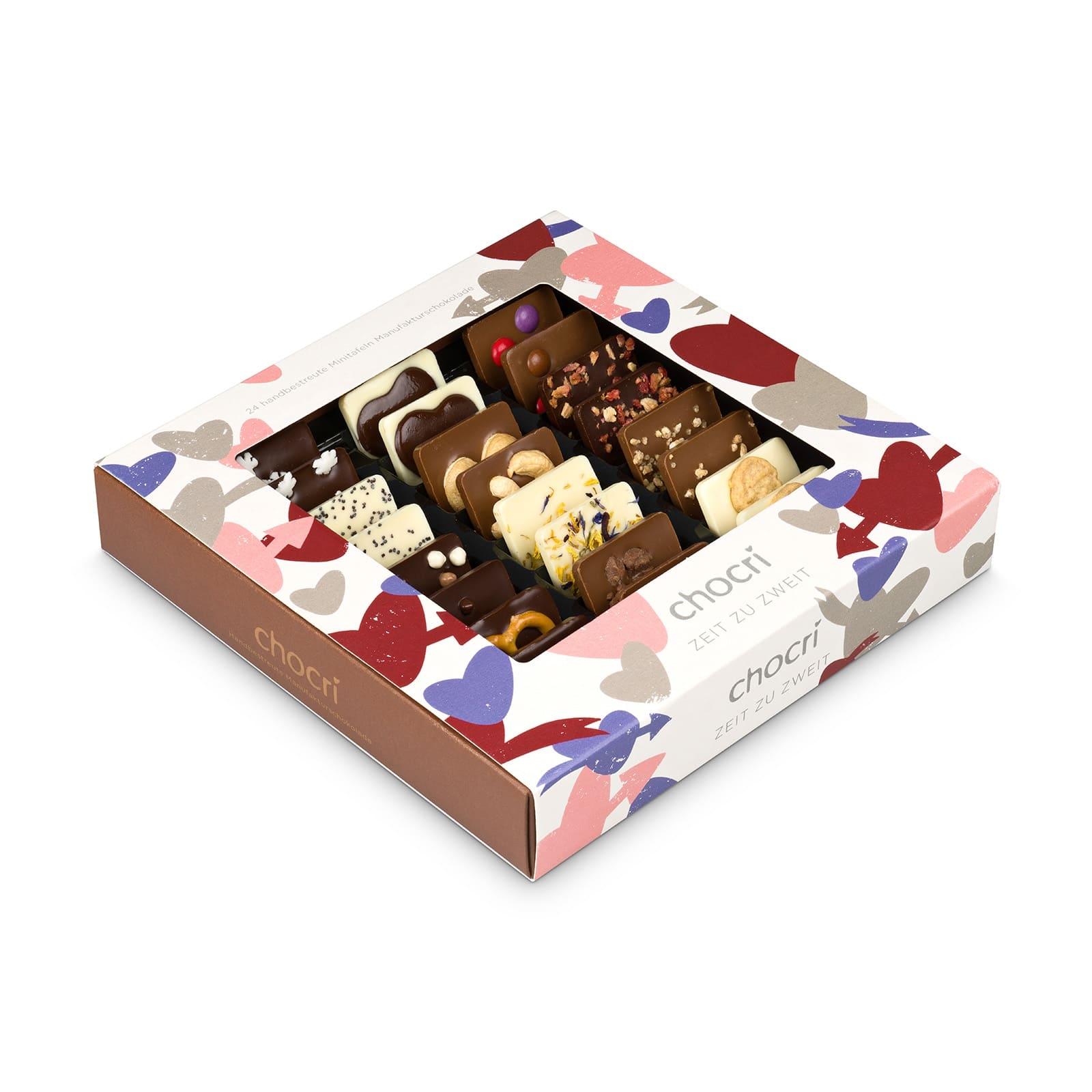 Köstlichsüsses - chocri Zeit zu zweit Mini Schokoladentafeln - Onlineshop Chocri