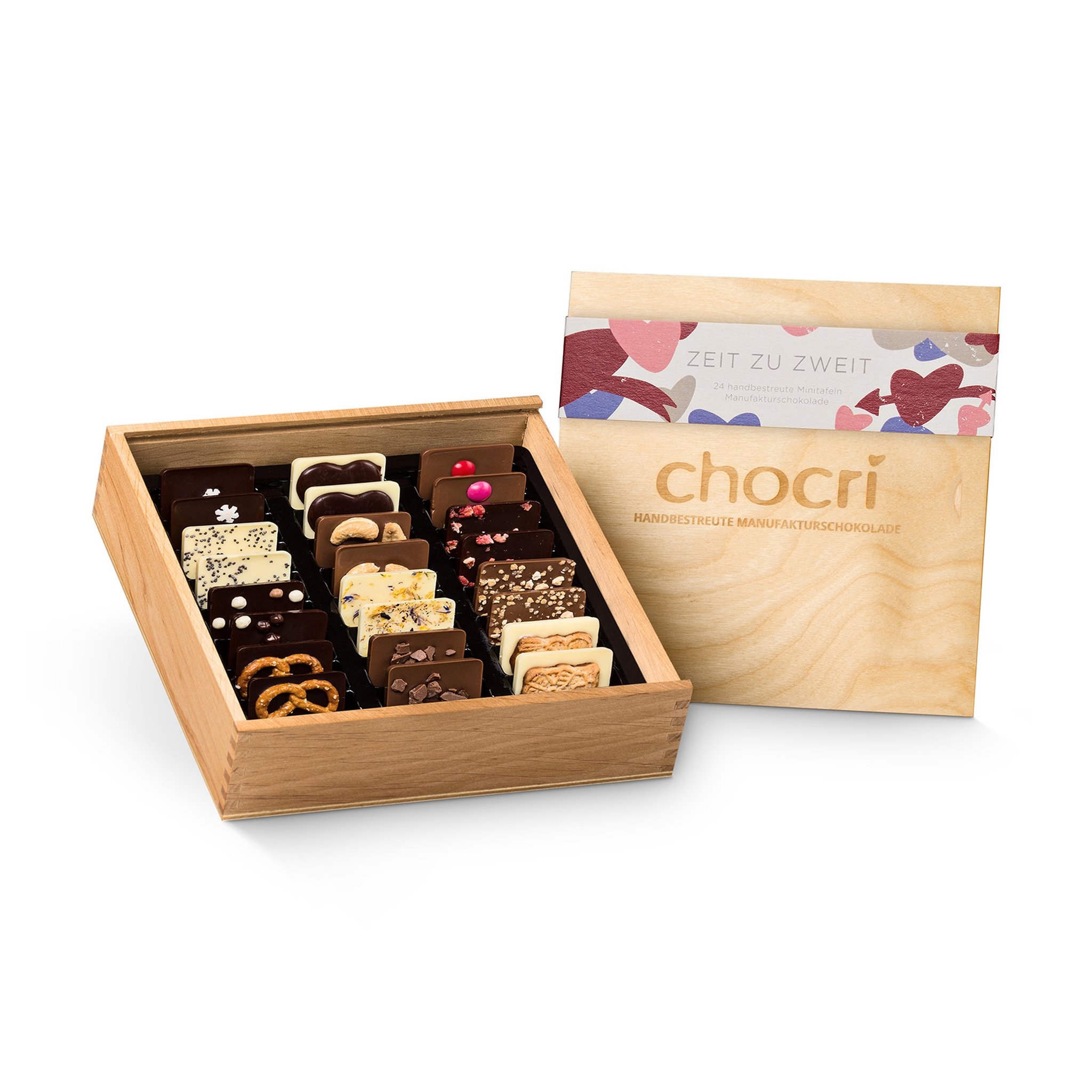 - chocri Weltreise® 'Zeit zu zweit' in edler Holz Box - Onlineshop Chocri
