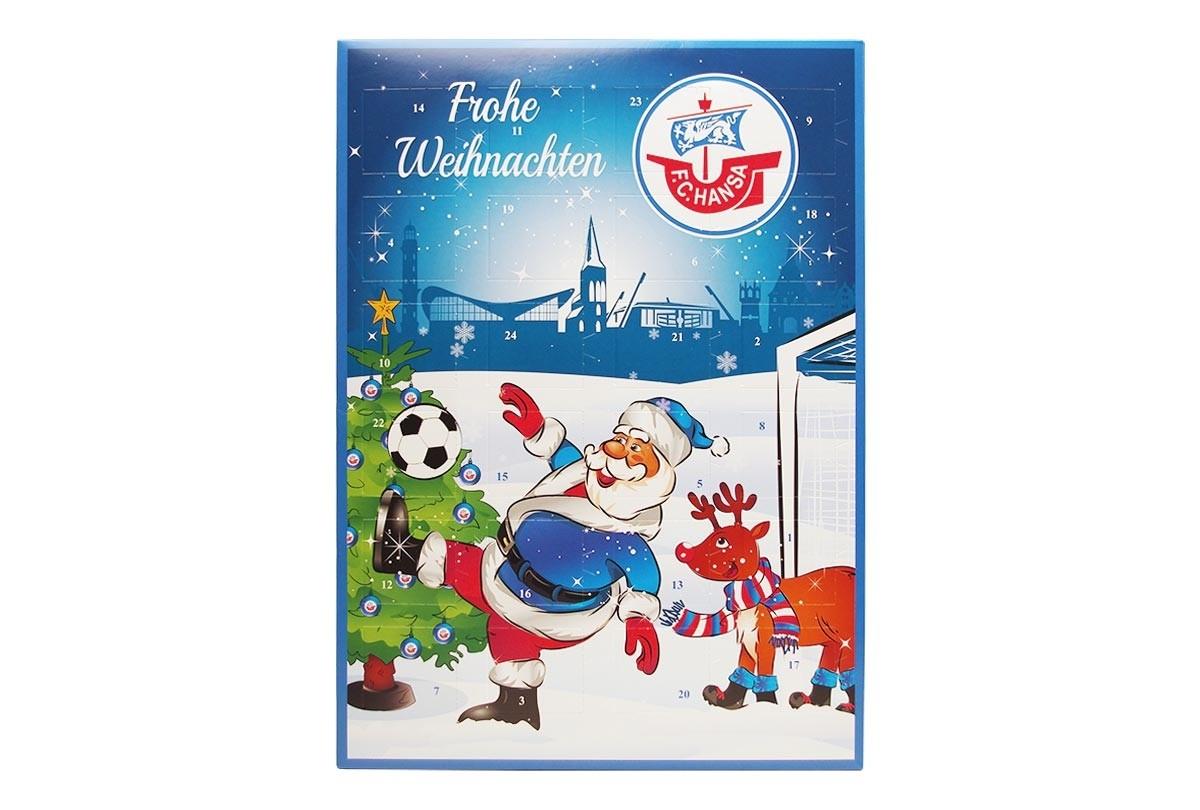 Schokoladen Weihnachtskalender.Schoko Adventskalender F C Hansa Rostock Team Schokolade Chocri