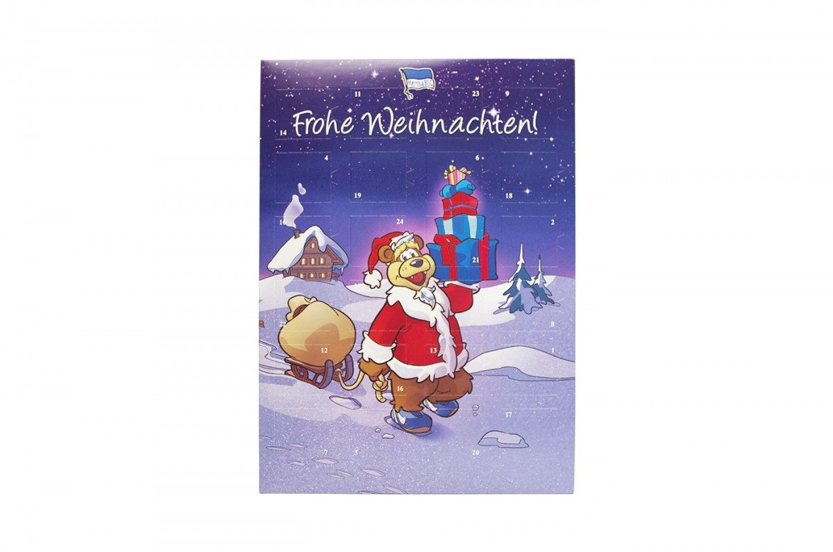 Schokoladen Weihnachtskalender.Schoko Adventskalender Hertha Bsc Team Schokolade Chocri