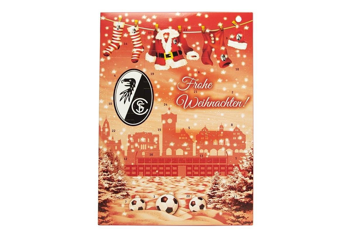 Schokoladen Weihnachtskalender.Schoko Adventskalender Sc Freiburg Team Schokolade Chocri