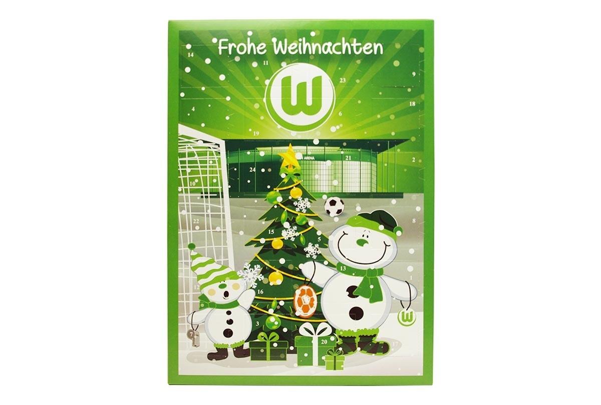 Schokoladen Weihnachtskalender.Schoko Adventskalender Vfl Wolfsburg Team Schokolade Chocri