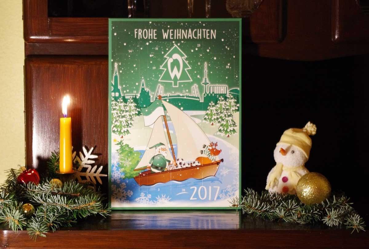 Frohe Weihnachten Werder Bremen.Schoko Adventskalender Sv Werder Bremen Team Schokolade