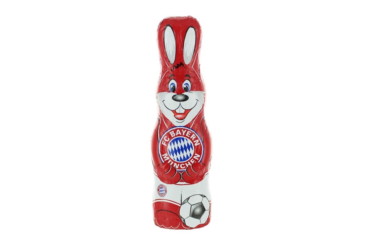 schoko osterhase fc bayern m nchen team schokolade. Black Bedroom Furniture Sets. Home Design Ideas