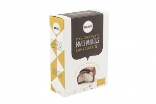 Barú Milk Chocolate Dark Caramel Marshmallows in Verpackung