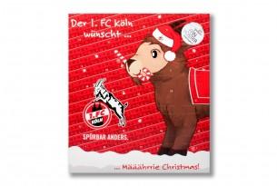 """Premium Schoko-Adventskalender """"1. FC Köln"""" Vorderseite mit Motiv"""