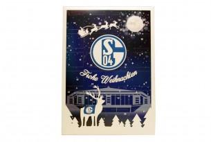 """Schoko-Adventskalender """"FC Schalke 04"""" Vorderseite mit Motiv"""