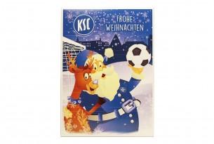 """Schoko-Adventskalender """"Karlsruher SC"""" Vorderseite mit Motiv"""