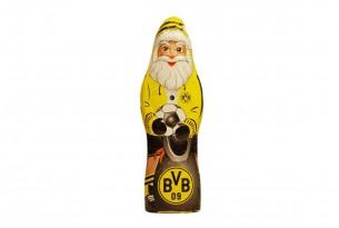 """Der Schoko-Weihnachtsmann von """"Borussia Dortmund"""" kann sowohl Knecht Ruprecht als auch Nikolaus"""