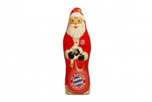 """Der Schoko-Weihnachtsmann des """"FC Bayern München"""" kann sowohl Knecht Ruprecht als auch Nikolaus"""
