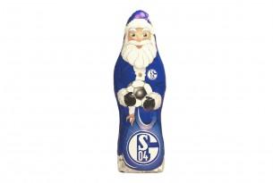 """Der Schoko-Weihnachtsmann des """"FC Schalke 04"""" kann sowohl Knecht Ruprecht als auch Nikolaus"""