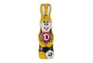 """Der Schoko-Osterhase der """"SG Dynamo Dresden"""" ist voll auf Ostern fokussiert"""