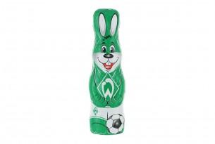 """Der Schoko-Osterhase des """"SV Werder Bremen"""" ist voll auf Ostern fokussiert"""