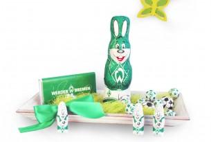 """So lässt sich das Ostern-Schoko-Fanpaket des """"SV Werder Bremen"""" hübsch dekorieren"""
