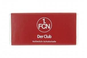 """Mit der Schokoladentafel des """"1. FC Nürnberg"""" schmeckt's einfach besser"""