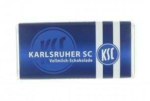 """Mit der Schokoladentafel des """"Karlsruher SC"""" schmeckt's einfach besser"""