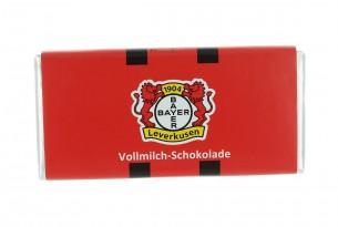 """Mit der Schokoladentafel des """"TSV Bayer 04 Leverkusen"""" schmeckt's einfach besser"""