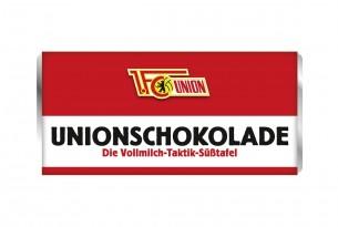"""Mit der Schokoladentafel des """"1. FC Union Berlin"""" schmeckt's einfach besser"""
