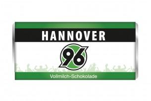 """Mit der Schokoladentafel von """"Hannover 96"""" schmeckt's einfach besser"""
