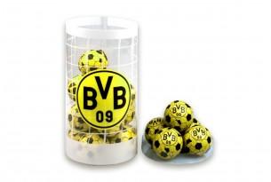 """Die Schoko-Kugeln von """"Borussia Dortmund"""" in der Schokoladen-Dose - das Runde muss in den Mund"""