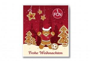 """Premium Schoko-Adventskalender """"1. FC Nürnberg"""" Vorderseite mit Motiv"""