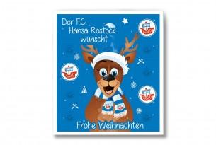 """Premium Schoko-Adventskalender """"F.C. Hansa Rostock"""" Vorderseite mit Motiv"""