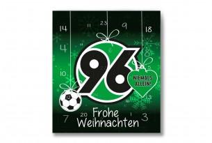 """Premium Schoko-Adventskalender """"Hannover 96"""" Vorderseite mit Motiv"""