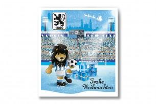 """Premium Schoko-Adventskalender """"TSV 1860 München"""" Vorderseite mit Motiv"""