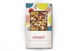 """chocri """"Apfelkuchen Erntedank"""" Schokoladen-Tafel"""