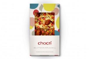 """chocri """"Blütenkarussell"""" Schokoladen-Tafel"""