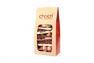 """chocri """"Vollmilch, Zartbitter & Weiß"""" Bruch-Schokolade in Verpackung"""