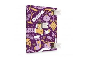 chocri 'Adventskalender' mit 24 Mini-Schokoladen-Tafeln aus Zartbitter-, Vollmilch- und Weißer Schokolade