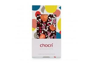 chocri 'Beerenkräfte' Schokoladentafel aus Zartbitterschokolade mit Erdbeeren, Himbeeren und Joghurt mit Verpackung