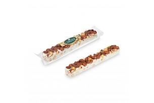 chocri / Carlier Nougatiers Soft-Nougat-Riegel mit Pistazien, Haselnüssen und Mandeln in durchsichtiger Folie/Verpackung