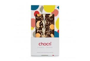 chocri 'Cashew Orange' Schokoladentafel verpackt