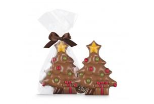 Chef du Chocolat XL Weihnachtsbaum aus Vollmilchschokolade dekoriert mit Schokolade und Farben handbemalt