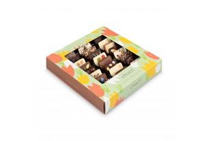 """chocri Schokoladenmix Weltreise """"Frühlingswiese"""" zu Ostern in österlicher Verpackung mit Tulpenmuster"""