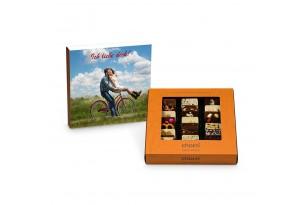 """chocri Weltreise """"Klassik"""" Mini-Schokoladen-Tafeln mit individueller Verpackung zum chocri Weltreise """"Klassik"""" Mini-Schokoladen-Tafeln mit individueller Verpackung zum Valentinstag"""