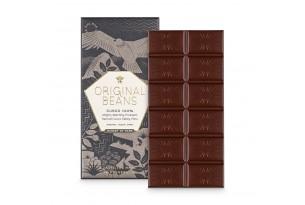 Original Beans 'Cusco 100% Kakao' Schokoladentafel aus Peru ausgepackt