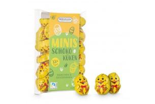 Confiserie Riegelein Mini Schoko-Küken in Geschenkverpackung ausgepackt