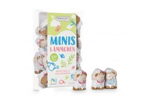 Confiserie Riegelein Mini Schoko-Lämmchen in Geschenk-Box, eingepackt und ausgepackt