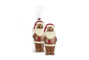 """chocri """"Santa Robert"""" der Weihnachtsmann mit niedlichem Gesicht aus Vollmilchschokolade dekoriert mit Zartbitterschokolade und weißer Schokolade"""