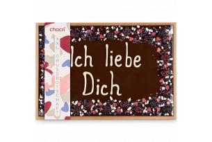 chocri 'Ich liebe Dich' Schokoladentafel in Holzkiste Small Image
